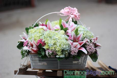 Kết quả hình ảnh cho giỏ hoa sinh nhật điện hoa 24h