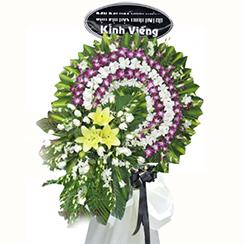 Vòng hoa tang màu tím