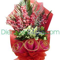 Bó hoa lan mokara