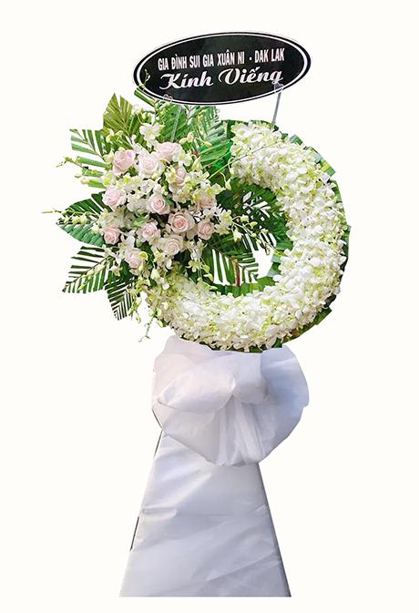 Hoa chia buồn màu trắng, lan trắng