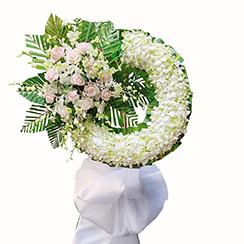 Hoa chia buồn màu lan trắng