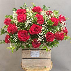Giỏ hoa hồng đỏ - dienhoa24gio.com