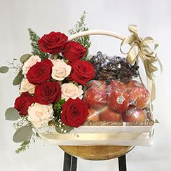 Giỏ hoa quả đẹp   Gio hoa qua dep