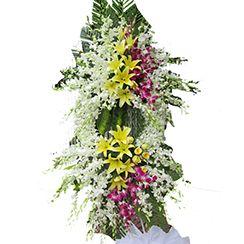 Hoa chia buồn, hoa đám tang to, đẹp CB42