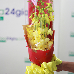Bó hoa tặng đại biểu rẻ