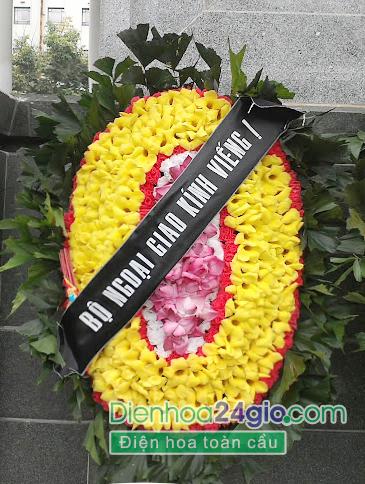 Vòng oa chia buon, hoa tang lễ VH13