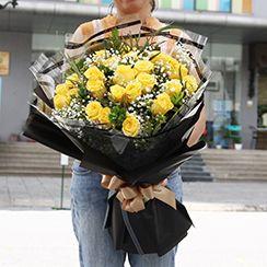 Bó hoa hồng vàng