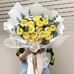 Bó hoa hồng juliet HB595