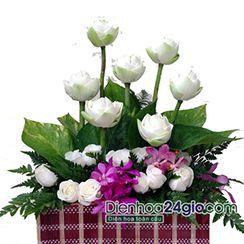 Giỏ hoa sen đẹp rẻ