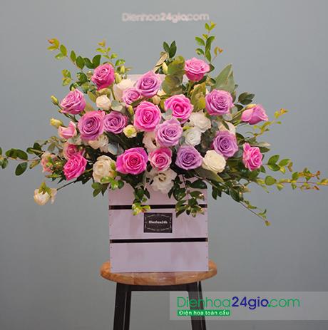 Giỏ hoa tươi G327