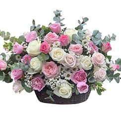 Giỏ hoa tươi đẹp G428