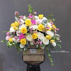 Giỏ hoa tươi G52