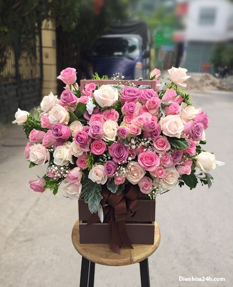 Giỏ hoa sinh nhật đẹp G201