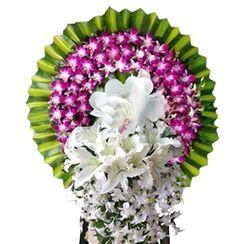 Hoa chia buồn màu trắng tím CB36
