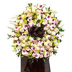 Vòng hoa chia buồn CB25