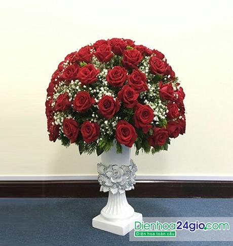 Bình hoa tươi vip Bi51