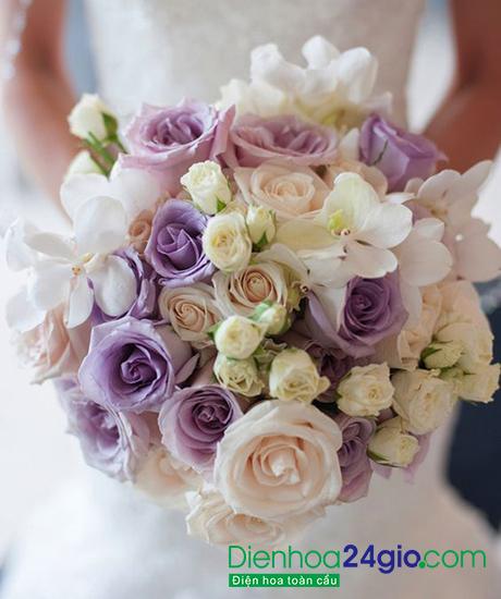 Hoa cầm tay cô dâu HC14