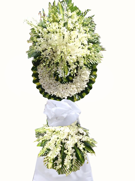 Hoa chia buồn Hà Nội màu trắng