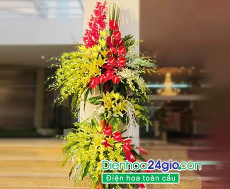 lẵng hoa lan mừng khai trương, hoa hội nghị, hoa cưới