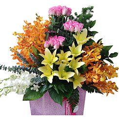 Lẵng hoa tặng đối tác, khách hàng G415