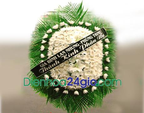 Vòng hoa chia buồn VH01