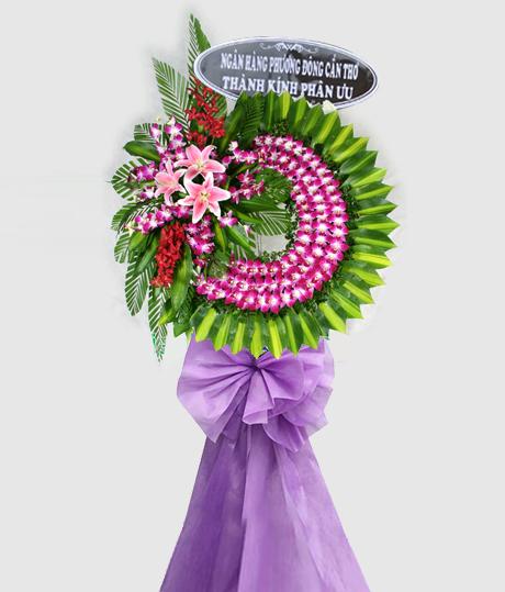 Vòng hoa chia buồn VH08